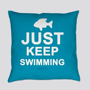 Keep Swimming Everyday Pillow