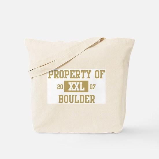Property of Boulder Tote Bag