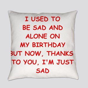 sad and alone Everyday Pillow