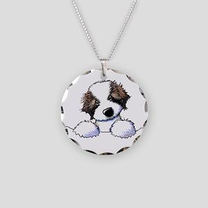 St. Bernard Puppy Pocket Necklace