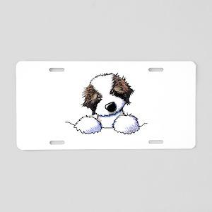 St. Bernard Puppy Pocket Aluminum License Plate
