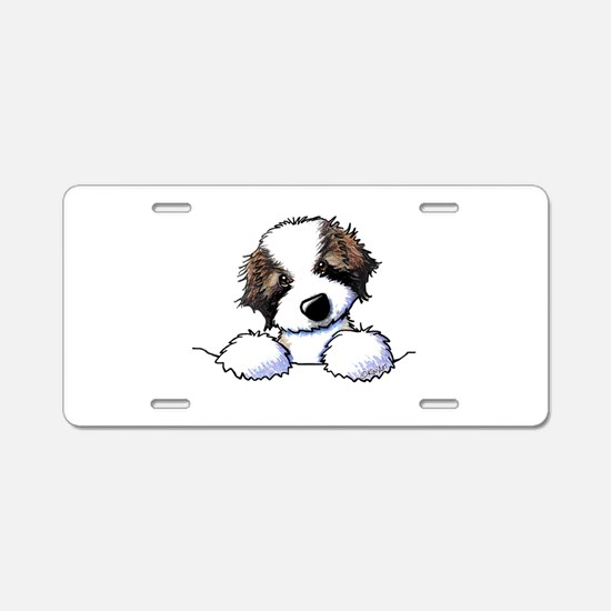 St. Bernard Puppy Pocket Aluminum License Plate