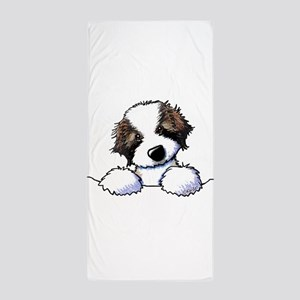 St. Bernard Puppy Pocket Beach Towel