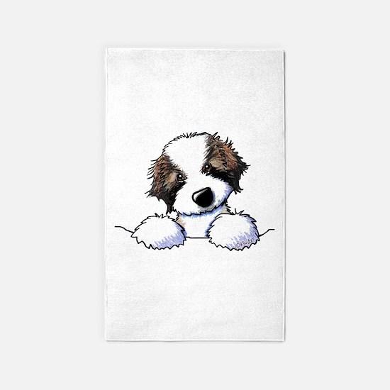 St. Bernard Puppy Pocket Area Rug