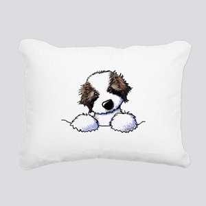 St. Bernard Puppy Pocket Rectangular Canvas Pillow
