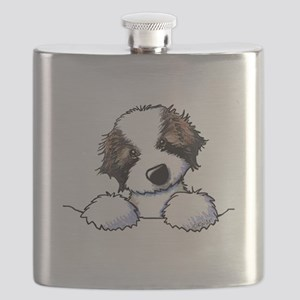 St. Bernard Puppy Pocket Flask