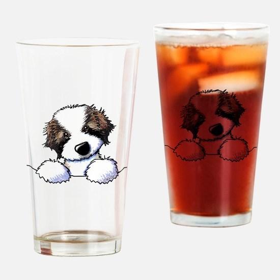 St. Bernard Puppy Pocket Drinking Glass