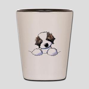 St. Bernard Puppy Pocket Shot Glass