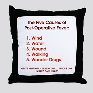 THE 5 CAUSES OF... Throw Pillow