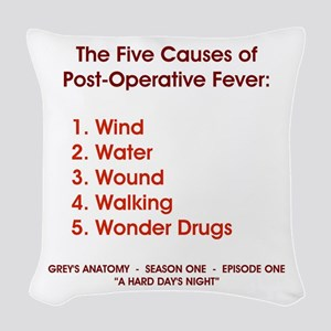 THE 5 CAUSES OF... Woven Throw Pillow