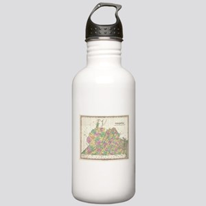 Vintage Map of Virgini Stainless Water Bottle 1.0L