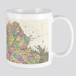 Vintage Map of Virginia (1827) Mugs