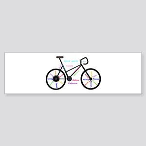 Women's Mountain Bike Inspirational Bumper Sti