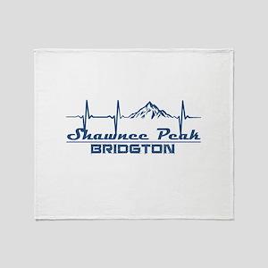 Shawnee Peak - Bridgton - Maine Throw Blanket