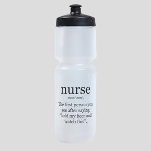 nurse definition Sports Bottle
