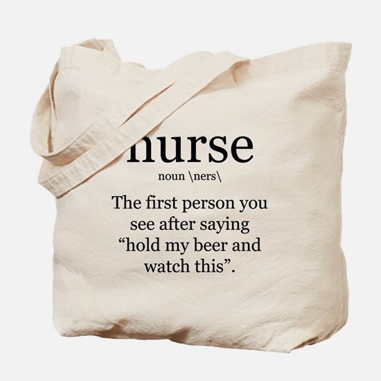 nurse definition Tote Bag