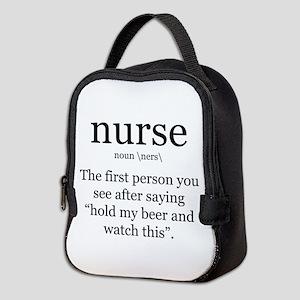 nurse definition Neoprene Lunch Bag