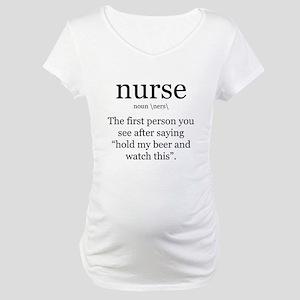 nurse definition Maternity T-Shirt