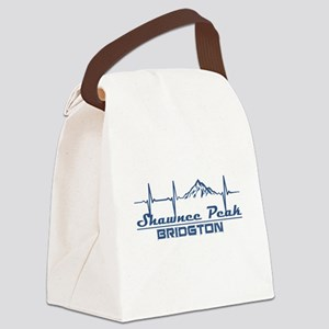 Shawnee Peak - Bridgton - Maine Canvas Lunch Bag