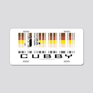 CUBBY barcode Aluminum License Plate
