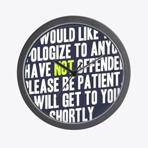 Apologize Wall Clock