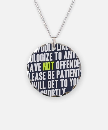 Apologize Necklace Circle Charm