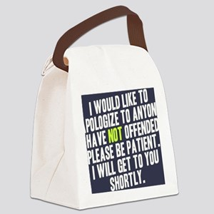 Apologize Canvas Lunch Bag