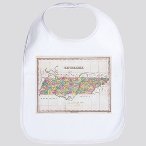 Vintage Map of Tennessee (1827) Bib