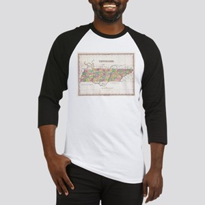 Vintage Map of Tennessee (1827) Baseball Jersey