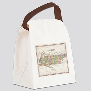 Vintage Map of Tennessee (1827) Canvas Lunch Bag