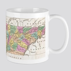 Vintage Map of Tennessee (1827) Mugs