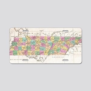 Vintage Map of Tennessee (1 Aluminum License Plate