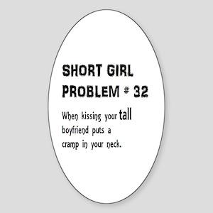 Short Girl Problem #32 Sticker (Oval)