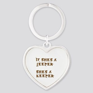 If She's a Jeeper Heart Keychain