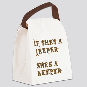 If She's a Jeeper Canvas Lunch Bag