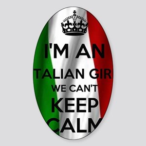 I'm an Italian Girl Sticker (Oval)
