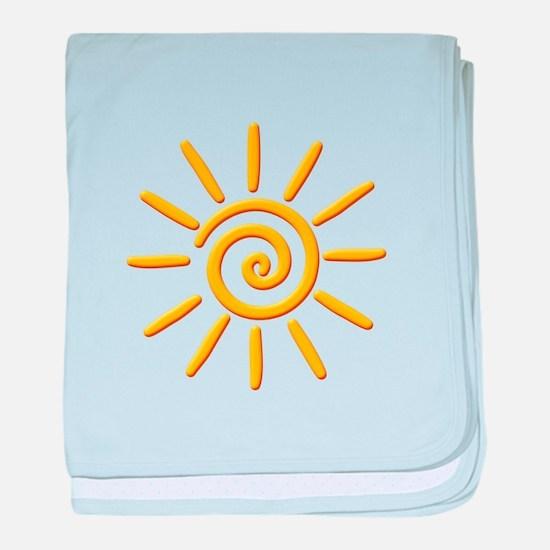 3D Yellow Sun Drawing baby blanket