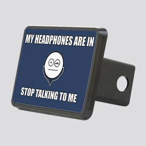 STOP Talking to me Rectangular Hitch Cover