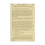 Ten Commandments Mini Poster Print