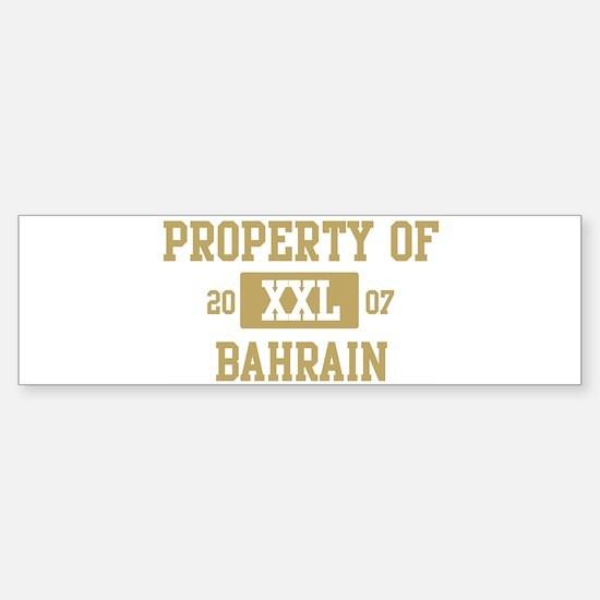 Property of Bahrain Bumper Bumper Bumper Sticker
