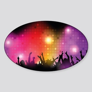 Concert and Applause Sticker (Oval)