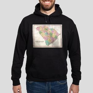 Vintage Map of South Carolina (1827) Hoodie (dark)