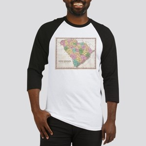 Vintage Map of South Carolina (182 Baseball Jersey