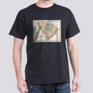 Vintage Map of South Carolina (1827) T-Shirt