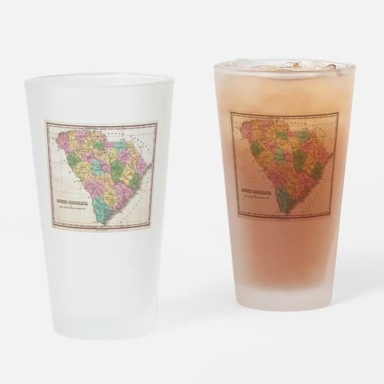 Vintage Map of South Carolina (1827 Drinking Glass