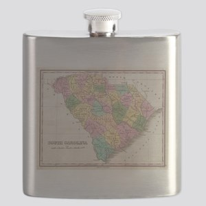 Vintage Map of South Carolina (1827) Flask