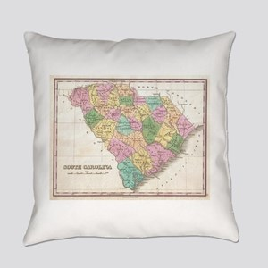 Vintage Map of South Carolina (182 Everyday Pillow
