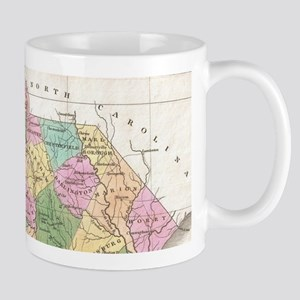 Vintage Map of South Carolina (1827) Mugs