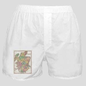 Vintage Map of Scotland (1827) Boxer Shorts