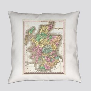 Vintage Map of Scotland (1827) Everyday Pillow